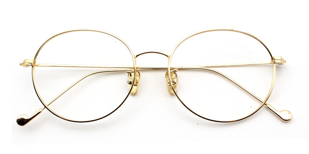 Louanne Cheap Eyeglasses Gold