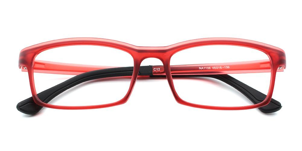 Julian Discount Kids Eyeglasses Red