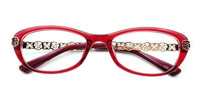 Peyton Eyeglasses Red