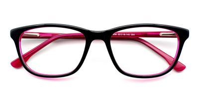 Harper Eyeglasses Black Red
