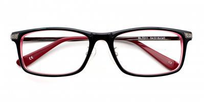 Joshua Eyeglasses Black Red