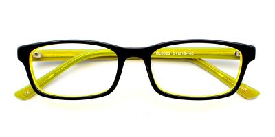 Dylan Eyeglasses Black Yellow