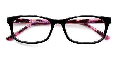 Grace Eyeglasses Black Purple