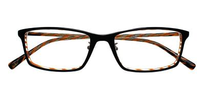 Marina Eyeglasses Black Orange