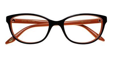 Quincy Eyeglasses Brown Orange