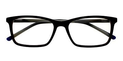 Tiburon Eyeglasses Black Demi