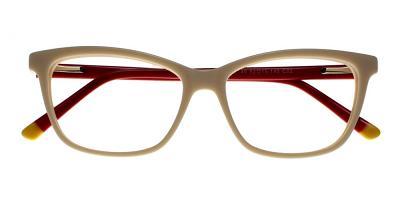 Atwater Eyeglasses White Red
