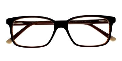 Benicia Eyeglasses Brown Black