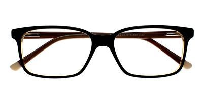 Benicia Eyeglasses Yellow Black