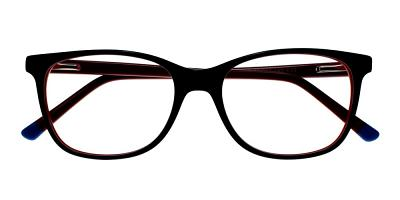 Danville Eyeglasses Black Red
