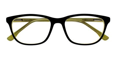 Escondido Eyeglasses Black Yellow