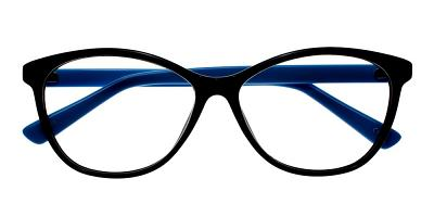 Jamestown Eyeglasses Black Blue